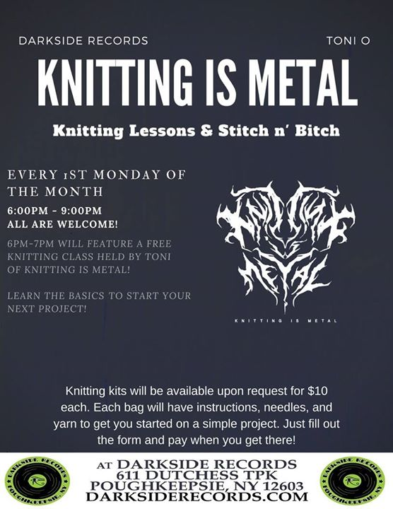 Knitting Lessons Near Me : Knitting is metal presents stitch n bitch bands near me